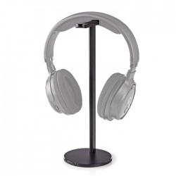 NEDIS HPST200BK Headphones Stand Aluminium Design 98 x 276mm Black