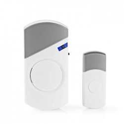 NEDIS DOORB120CWT Wireless Doorbell Set Mains Powered 36 Melodies