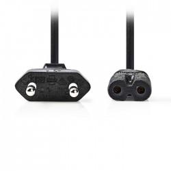 NEDIS PCGP11040BK20 Power Cable Euro Plug - IEC-320-C7 2.0m Black