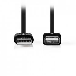 NEDIS CCGT60010BK20 USB 2.0 Cable A Male - USB A Female 2.0 m Black