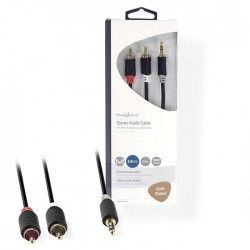 NEDIS CABW22200AT20 Stereo Audio Cable 3.5 mm Male - 2x RCA Male 2.0 m Anthracit