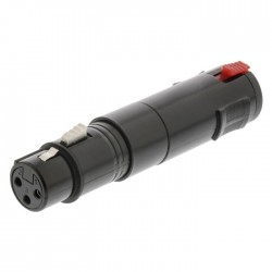 NEDIS COTP15944BK XLR Adapter Stereo XLR 3-pin Female-6.3 mm Female Black