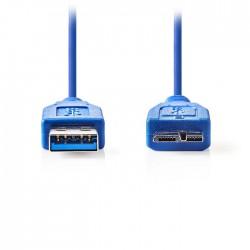 NEDIS CCGP61500BU10 USB 3.0 Cable A Male - Micro B Male 1.0 m Blue