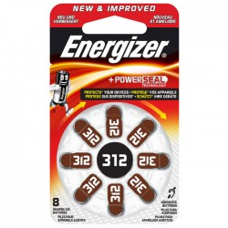 ENERGIZER ZINC AIR 312/8TEM HEARING AID BATTERY