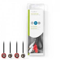 NEDIS CAGB24200BK10 Stereo Audio Cable 2x RCA Male - 2x RCA Male 1.0 m Black