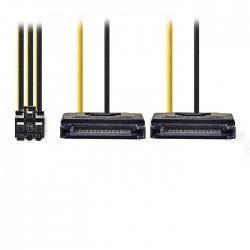 NEDIS CCGP74205VA015 Internal Power Cable 2x SATA 15-pin Male - PCI Express Fema
