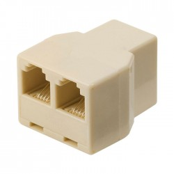 NEDIS TCGP90990IV Telecom Splitter RJ11 Female - 2x RJ11 Female Ivory