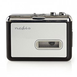 NEDIS ACGRU100GY Portable USB Cassette to MP3 Converter with USB Cable and Softw