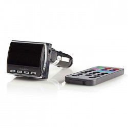 NEDIS CATR200BK Car FM Transmitter 3.5 mm input microSD Card Slot