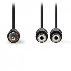 NEDIS CAGP24010BK02 Subwoofer Cable RCA Male - 2x RCA Female 0.2 m Black