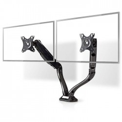 NEDIS MMNTDO100BK Desk Monitor Mount Double Monitor Arm Full Motion 10-32 ""