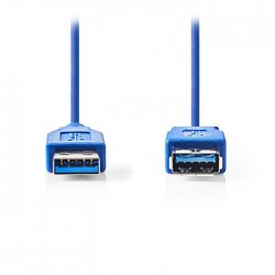 NEDIS CCGP61010BU10 USB 3.0 Cable A Male - A Female 1.0m Blue