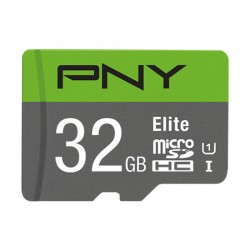 PNY P-SDU32GU185GW-GE32GB MICRO-SD HC CLASS 10/UHS-I  U1+SD ADAPTER