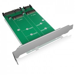 ICY BOX IB-CVB512-S Converter-board 2x SATA to 2x M.2 SATA