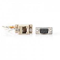 NEDIS CCGP52820IV D-Sub Adapter D-Sub 9-Pin Female - RJ45 (8P8C) Female Ivory