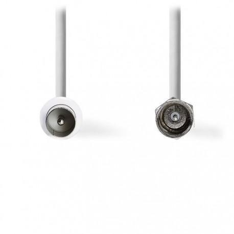 NEDIS CSGP41800WT15 Satellite & Antenna Cable F Male - IEC (Coax) Male 1.5 m Whi