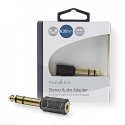 NEDIA CABW23930AT Stereo Audio Adapter 6.35 mm Male - 3.5 mm Female