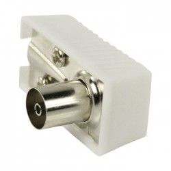 NEDIS CSGP40920WT IEC (Coax) Connector Angled Female - Square Design - 2 pieces