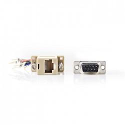 NEDIS CCGP52821IV D-Sub Adapter D-Sub 9-Pin Male - RJ45 (8P8C) Female Ivory