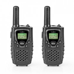 NEDIS WLTK0800BK Walkie-Talkie Range 8 km 8 Channels VOX 2 Pieces Black