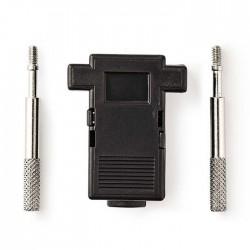 NEDIS CCGP52890BK D-Sub Connector Hood Suitable for D-Sub 9-Pin Black