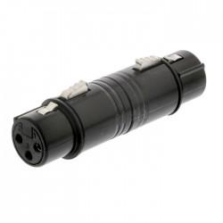 NEDIS COTP15920BK XLR Coupler XLR 3-pin Female - XLR 3-pin Female Black